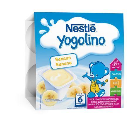 Nestle Бебешки млечен десерт Yogolino Банан (4x100 гр.)